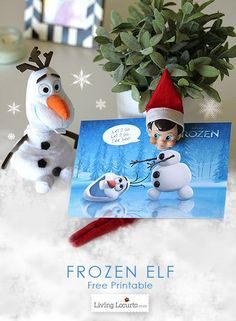 Disney Frozen Elf on the Shelf Free Printable for Christmas fun! LivingLocurto.com #print #frozen