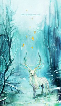 The Art Of Animation, Megu's Husbando Mythical Creatures Art, Magical Creatures, Fantasy Creatures, Art Sketches, Art Drawings, Art Du Croquis, Art Mignon, Deer Art, Fantasy Kunst