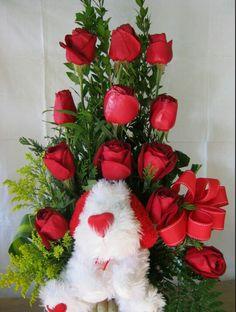 Rosas con peluche Pedidos 1703320 Cel 656 2779106
