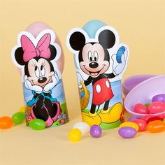 minnie and mickey easter egg stands
