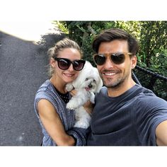 21 Times Olivia Palermo Gave us Relationship Goals via Olivia Palermo Lookbook, Olivia Palermo Style, Johannes Huebl, Bae, Fall In Luv, Celebrity Dogs, Stylish Couple, Maltese Dogs, Famous Girls