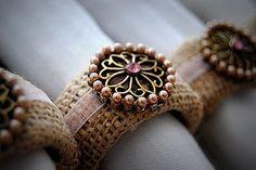 Burlap Napkins Rings