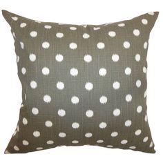 The Pillow Collection Rennice Ikat Dots Cotton Throw Pillow & Reviews | Wayfair