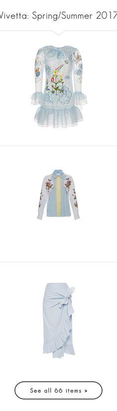 """Vivetta: Spring/Summer 2017"" by livnd ❤ liked on Polyvore featuring vivetta, springsummer2017, livndfashion, livndvivetta, dresses, blue, ruffle dress, embellished dress, vivetta dress and embroidered dress"