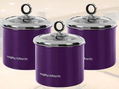 Smart looking purple cannisters <3