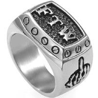 Size Retro Vintage FTW Biker Middle Finger Ring: Solid Stainless Steel Polished and Comfort Fit Finest quality, 60 days money back guarantee Gift box is NOT included Free return and exchange Gothic Engagement Ring, Middle Finger Ring, Biker Rings, Cocktail, Jewelry Party, Men's Jewelry, Jewellery, Ring Designs, Retro Vintage