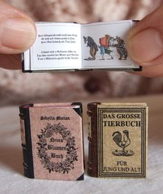 Tiny books.