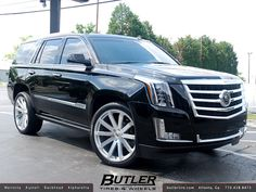 2015 Cadillac Escalade with 24in Black Rhino Traverse | Flickr - Photo Sharing!