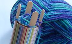 Make a French knitting machine. Make a Make a French knitting machine. Now you can make your own and teach your children how to French knit using a homemade device (how-to video included).        Did you have a Knitting Nancy or a French knitting machine when you were a kid? Now you can make your own and teach your children how to French knit using a homemade device.
