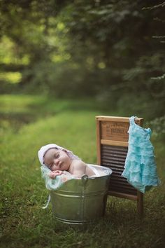 Baby Nora's One Month Photo Session By Valerie Shelton Photography. Countryside Baby