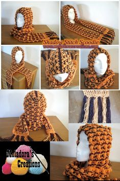 Shadow Stitch Scoodie - free pattern and video tutorials by Meladora's Creations