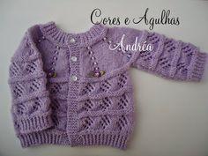 http://coreseagulhas.blogspot.com.br/search/label/Casaquinho de Bebe em Tricô