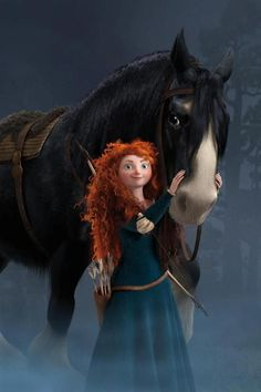 Merida is the most brave and rebellious princsess in the history of official disney princesses in my opinion. Disney Magic, Disney Pixar, Disney Amor, Disney And Dreamworks, Disney Girls, Brave Disney, Disney Princess Merida, Pixar Movies, Disney Movies