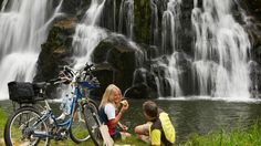 Coromandel adventures offer guided bus tours & shuttle service to Coromandel's best attractions, Whitianga, walking tracks, Cathedral Cove & Hot Water Beach. Bike Trails, Family Adventure, Day Tours, What Is Like, Travel Around, New Zealand, Trip Advisor, Places To Go, Waterfall