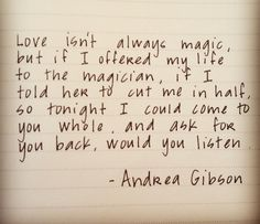 All time favorite Andrea Gibson quote.