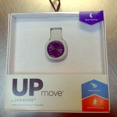 UP move by jawbone wireless activity tracker UP move by jawbone wireless activity tracker. Tracks steps and sleep, food tracker, smart coach, with led display showing time and progress towards goals. I have grey/blue and green/grey available Jewelry Brooches