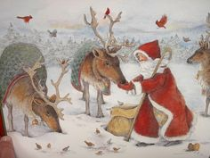 2002 Classic Santa Calendar Sherri Buck Baldwin Folk Art 12 Art Prints Mint | eBay