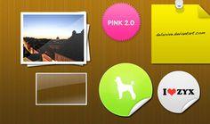 Free editable PSD stickers