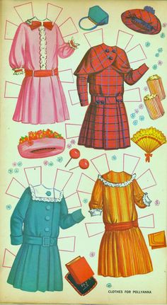 Walt Disney Pollyanna paper doll with furniture (6 of 8), 1960s Golden Funtime Paper Dolls Books #BF153  | Bobe Green | Picasa Web Albums