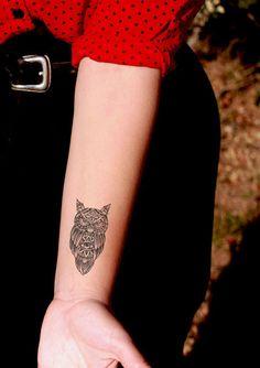 Custom Evil Eye Owl Temporary Tattoo by SomaArtTattoo on Etsy