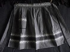 100% Handmade Hand Sewn Black and White Gingham by SusansYardSale