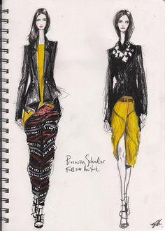 Pippa McManus, Proenza Schouler A/W 2011 sketch