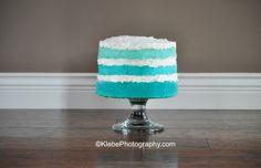 Ombré cake smash cake:)