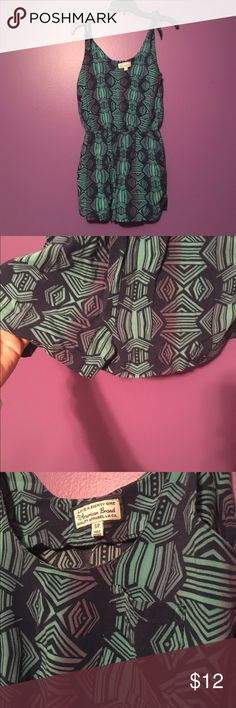 Printed Romper😈 SUPER CUTE👌🏻 awesome romper in great condition. Cute print on it and small pocket as shown in the pic. The straps are tied(see pic #4) and makes if the perfect summer romper. Comment with questions or make me an offer if you're interested! Will model if necessary👍🏼 listed as American eagle for views American Eagle Outfitters Other