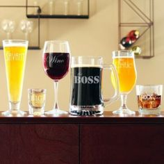 Party Glassware Set has a glass to cover every drinker's taste palate. RaeBella Events New York 6pc Party Glassware / Barware Set.