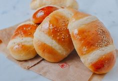 Coconut Buns (Chinese Cocktail Buns) | The Woks of Life Roast Pork Bun, Pork Buns, Milk Bread Recipe, Bread Recipes, Coconut Buns, Pineapple Bun, Wok Of Life, Bread And Pastries, Pastries Recipes