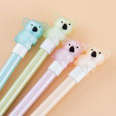 Pastel Koala Mechanical Pencil Japanese Pen, Pen Shop, Kawaii Gifts, Cute School Supplies, Kawaii Stationery, Kawaii Shop, Welcome Gifts, Mechanical Pencils, Sticky Notes