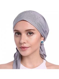 KQ/_ Solid Color Men Women Pleated Beanie Cap Hair Loss Sleeping Chemo Hat Clever