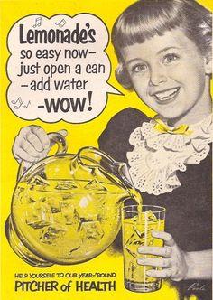 Vintage lemonade ad