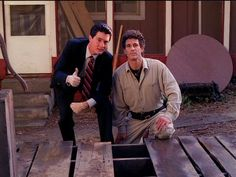 Trending GIF season 2 episode 1 showtime twin peaks thumbs up good job dale cooper kyle maclachlan harry s truman michael ontkean Twin Peaks Tv Show, Michael Ontkean, David Lynch Movies, David Lynch Twin Peaks, Kyle Maclachlan, Season 2 Episode 1, Tv Series To Watch, Between Two Worlds, Best Shows Ever