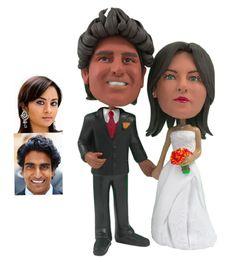 Personalized Wedding Cake Topper. #cute #cupcake #weddings