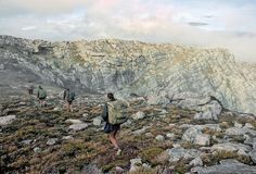 Along the ridge to Mt Scorpio, Western Arthurs, SW Tasmania, December, 1969.