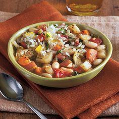White Bean, Artichoke, and Chard Ragout | MyRecipes.com