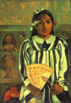 Tehamana Has Many Ancestors (Merahi metua no Tehamana) by Paul Gauguin - Tehamana Has Many Ancestors by Paul Gauguin emerged from the Impressionist's trips to Tahiti. Learn about Tehamana Has Many Ancestors by Paul Gauguin. Paul Gauguin, Henri Matisse, Pablo Picasso, Famous Artists, Great Artists, Gauguin Tahiti, Pop Art, Georges Seurat, Impressionist