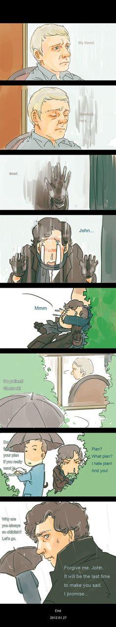 *cries* Stupid Mycroft, stupid stupid Mycroft, you're the reason Sherlock had to…