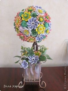 Handicraft product Bumagoplastika Quilling flower tree Paper Paper strips Fabric Beads Leaves....LOOK AT THIS!!! Seriously people LOOK AT THIS!!! IT'S F**CKING AMAZING!!!!  Another Russian site, but holy Sh*t they have the most Amazing talents!! It's worth the translating