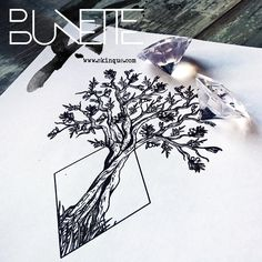 Bunette : Photo … #geometric_tree_tattoo