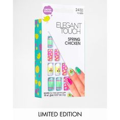 Elegant Touch Limited Edition Spring Chicken Nails ($12) ❤ liked on Polyvore