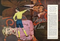Illustrated by Alex Ross. Whispers of Love. Cosmopolitan magazine 1950s