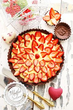 Çilekli Tart Tarifi #strawberry #çilek #tart #pie