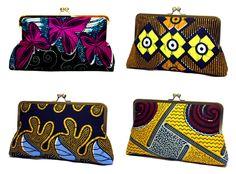 Urbanknit super snap clutch -in bold African fabric