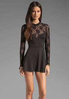 FOR LOVE & LEMONS Tarot Dress in Black at Revolve Clothing - Free Shipping!