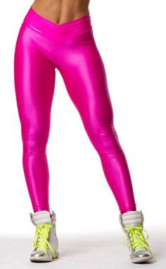 2017 V High Waist Candy Colors Neon Workout Fitness Fashion Leggings Women's Pants Fashion Elastic Strtched and Shiny 8 Color