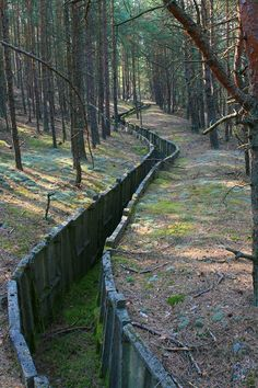 World War I trench Underground Bunker, Fortification, World War One, Abandoned Places, Pathways, Trench, Scenery, Places To Visit, Pictures