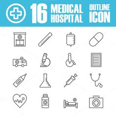hospital outline icon. Medical Infographic. $6.00