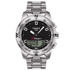 Tissot T-Touch II Men's Quartz Chronograph Black Dial Watch with Titanium Bracelet Tissot T Touch, Men's Watches, Watches For Men, Wrist Watches, Silver Watches, Fancy Watches, Citizen Watches, Awesome Watches, Luxury Watches